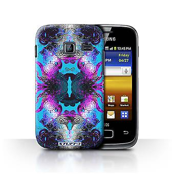 STUFF4 Case/Cover for Samsung Galaxy Y Duos/S6102/Purple/Blue Floral/Symmetry Pattern