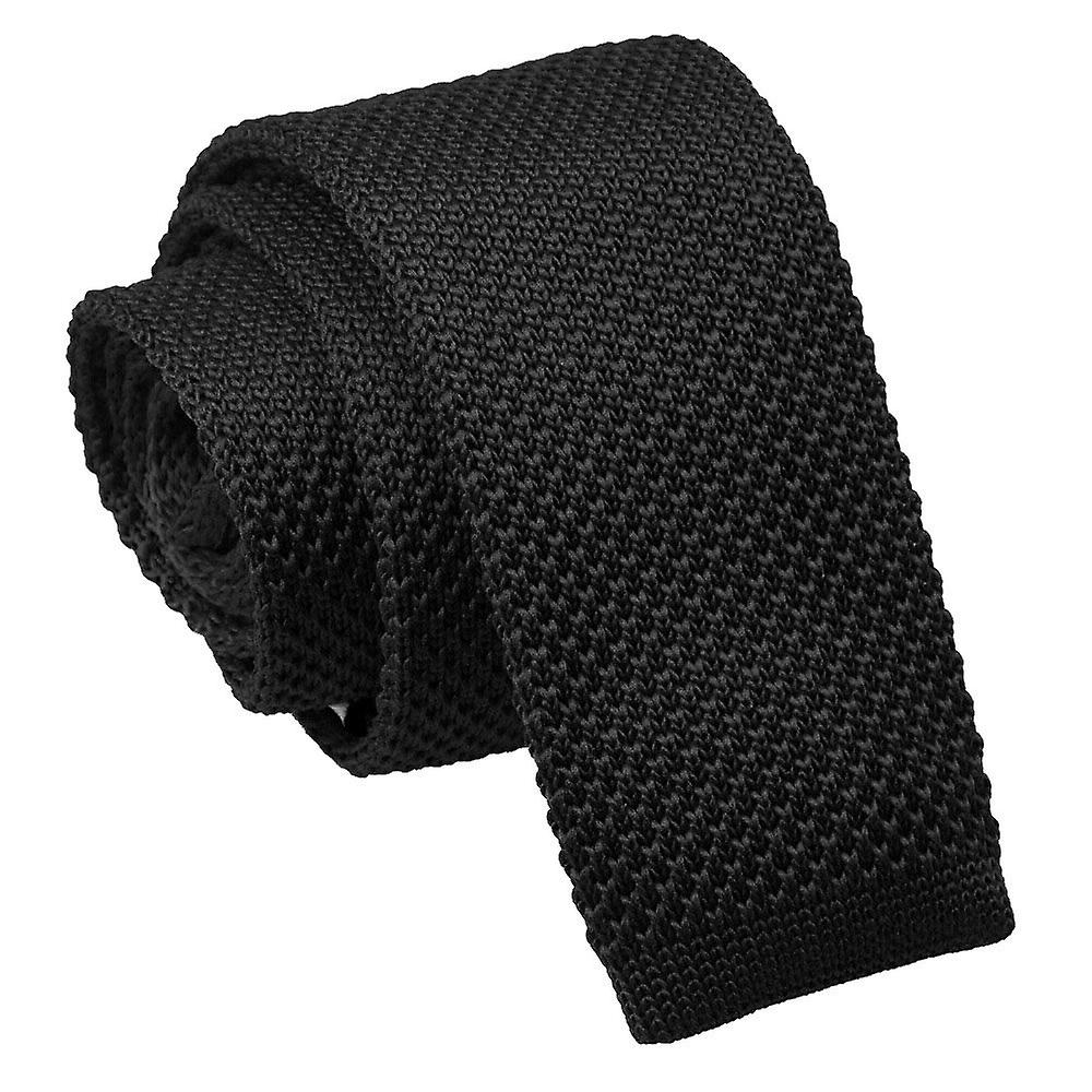 Knitted Black Tie