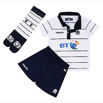 2016-2017 Scotland Macron Alternate Rugby Mini Kit