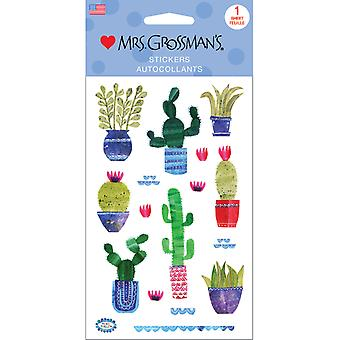 Mrs. Grossman's Stickers-Collaged Cacti 13525