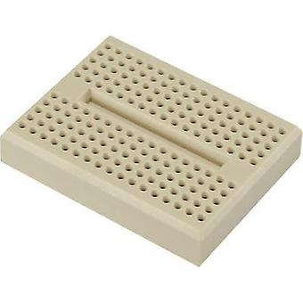Breadboard Brown Total number of pins 170 (L x W x H) 46 x 36 x 8 mm Conrad Components 0165-4219-18-15010 1 pc(s)