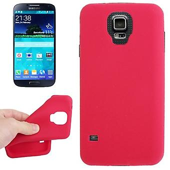 Protective cover silicone case for mobile Samsung Galaxy S5 / S5 neo Red
