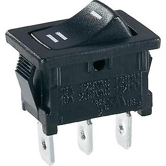 Toggle switch 250 Vac 6 A 1 x On/On SCI R13-66C-02 latch 1 pc(s)