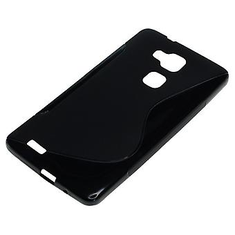 OTB TPU case compatible with Huawei Ascend Mate 7 S-curve black