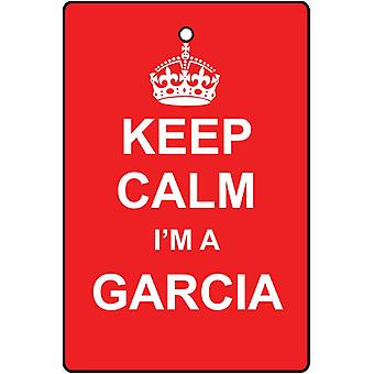Keep Calm I'm A Garcia Car Air Freshener