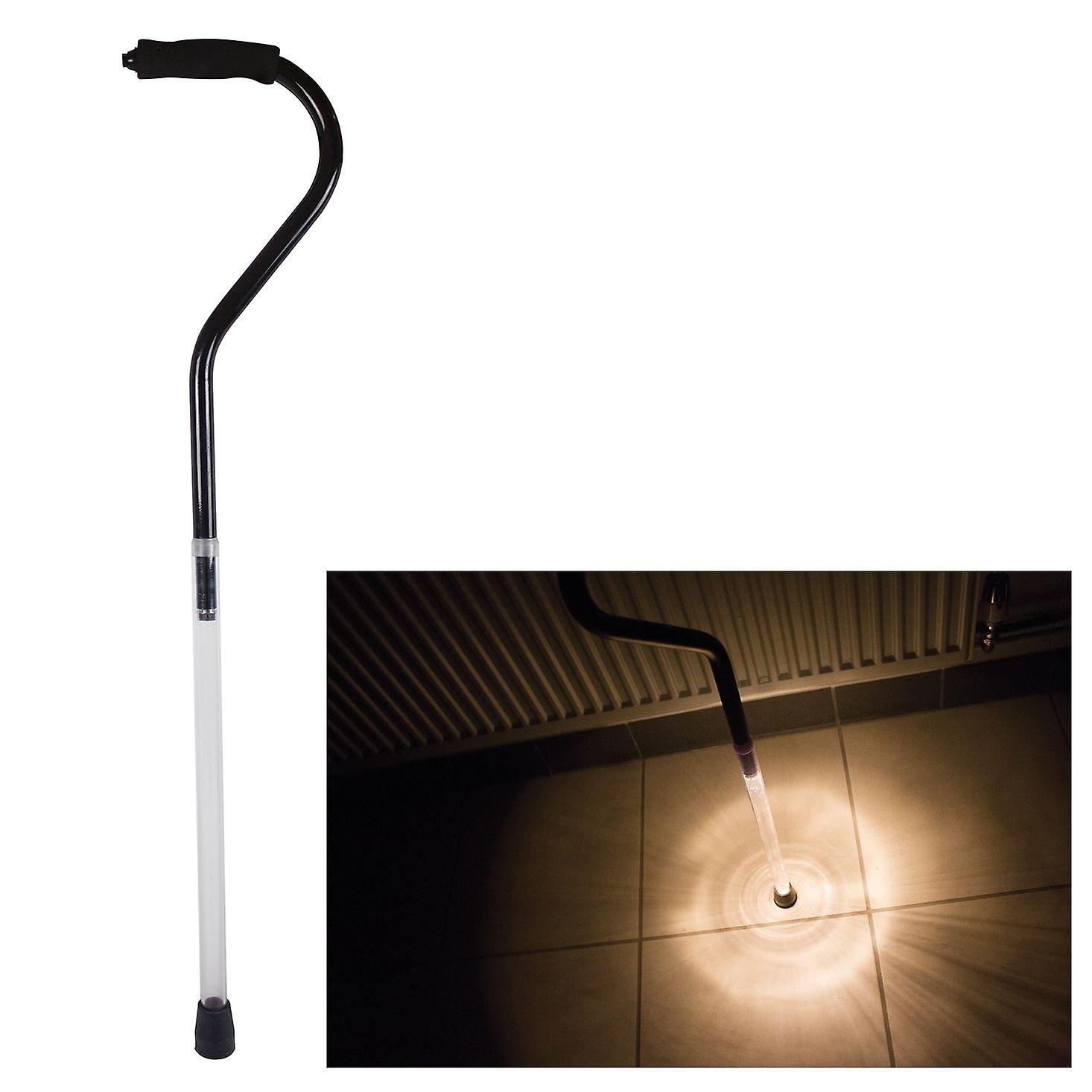 91.5cm Walking Stick With Guide Light / Torch Elderly Visibility Support Mobility Aid