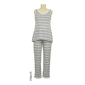 Belabumbum Heather Maternity & Nursing Cami and Pant Set