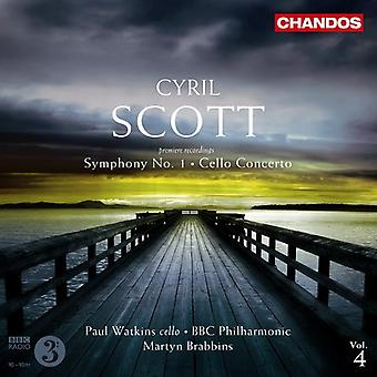 C. Scott - Cyril Scott: Sinfonía n º 1; Cello Concerto [CD] USA importar