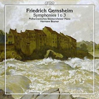F. Gernsheim - Friedrich Gernsheim: Symphonies 1 & 3 [CD] USA import