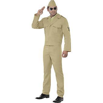 2-й мировой войны армейский офицер GI ретро костюм мужской единообразные бежевый