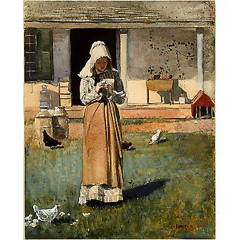 Winslow Homer - The Sick Chicken Poster Print Giclee