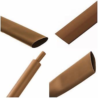 Brown Heat Shrink Tubing Wrap Shrink Sleeving Tube - 1 metre Length (1.2mm Inside Diameter Before Recovery)