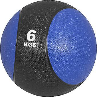 Medizinball aus Gummi 6 kg