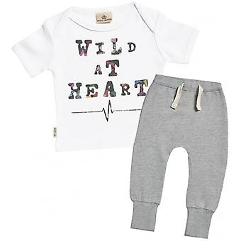 Spoilt Rotten Wild At Heart Baby T-Shirt & Joggers Outfit Set