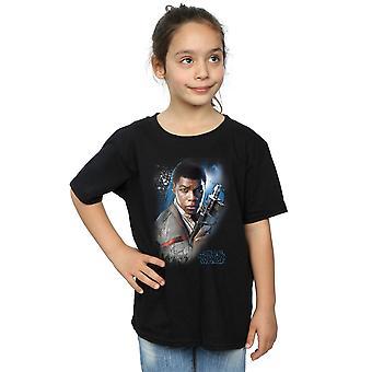 Star Wars Girls The Last Jedi Finn Brushed T-Shirt
