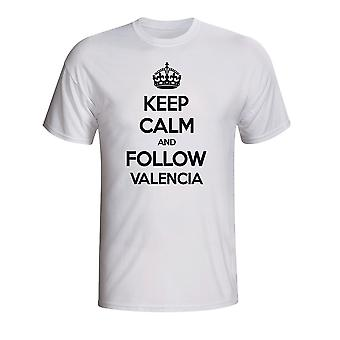 Keep Calm And Follow Valencia T-shirt (white)