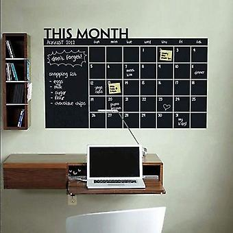 Superstudio Calendar Vinyl Blackboard Sticker Plus 5 Chalks 92X60 Black