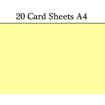 20 Yellow A4 Card Sheets for Crafts | Coloured Card for Crafts