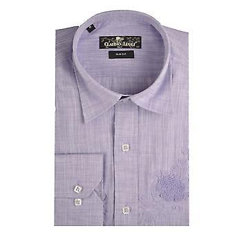 Claudio Lugli lilla linned Herre skjorte
