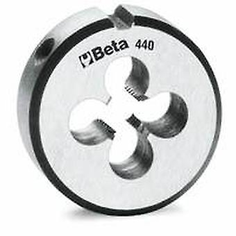 Beta 440 2 M2 X 25.4Mm/1In O/D Round Dies Coarse Pitch Made From Chrome-Steel