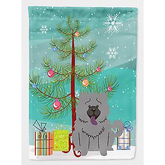 Веселый Рождество дерево Чоу Чоу голубой флаг сад размер