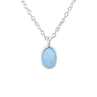 Oval - 925 Sterling Silver Necklaces - W27986x