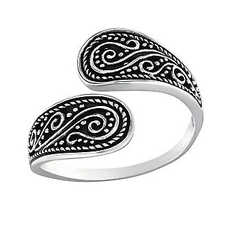 Ethnic - 925 Sterling Silver Plain Rings - W32293X