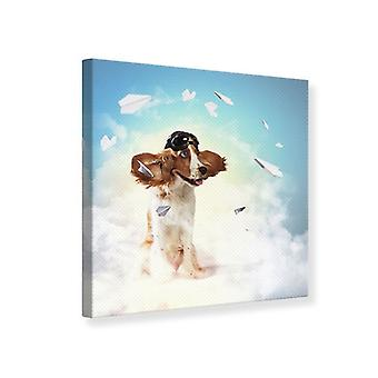 Canvas Print Flying Dog