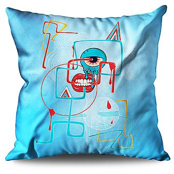 Geometrical Eye Fashion Linen Cushion Geometrical Eye Fashion | Wellcoda