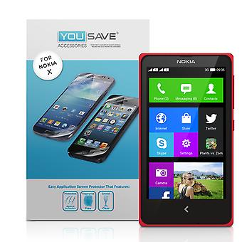 Yousave Zubehör Nokia X Display-Schutzfolien - 3er-Pack