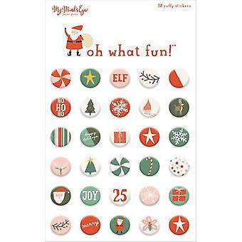 Oh What Fun Puffy Stickers-Oh What Fun FNC117