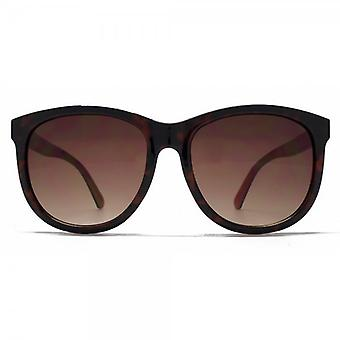 French Connection Large D Frame Sunglasses In Tortoise On Coral