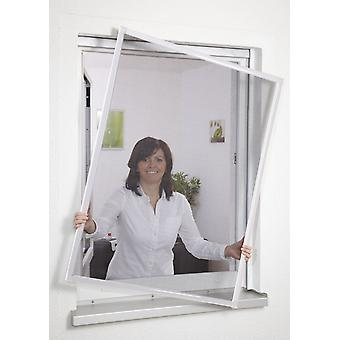 Insect repellent insect screen window frame without drilling 100 x 120 cm white