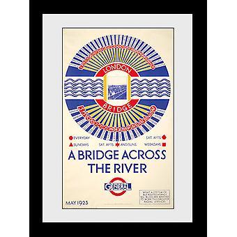 Vervoer voor Londen London Bridge frame af: drukken van de verzamelaar