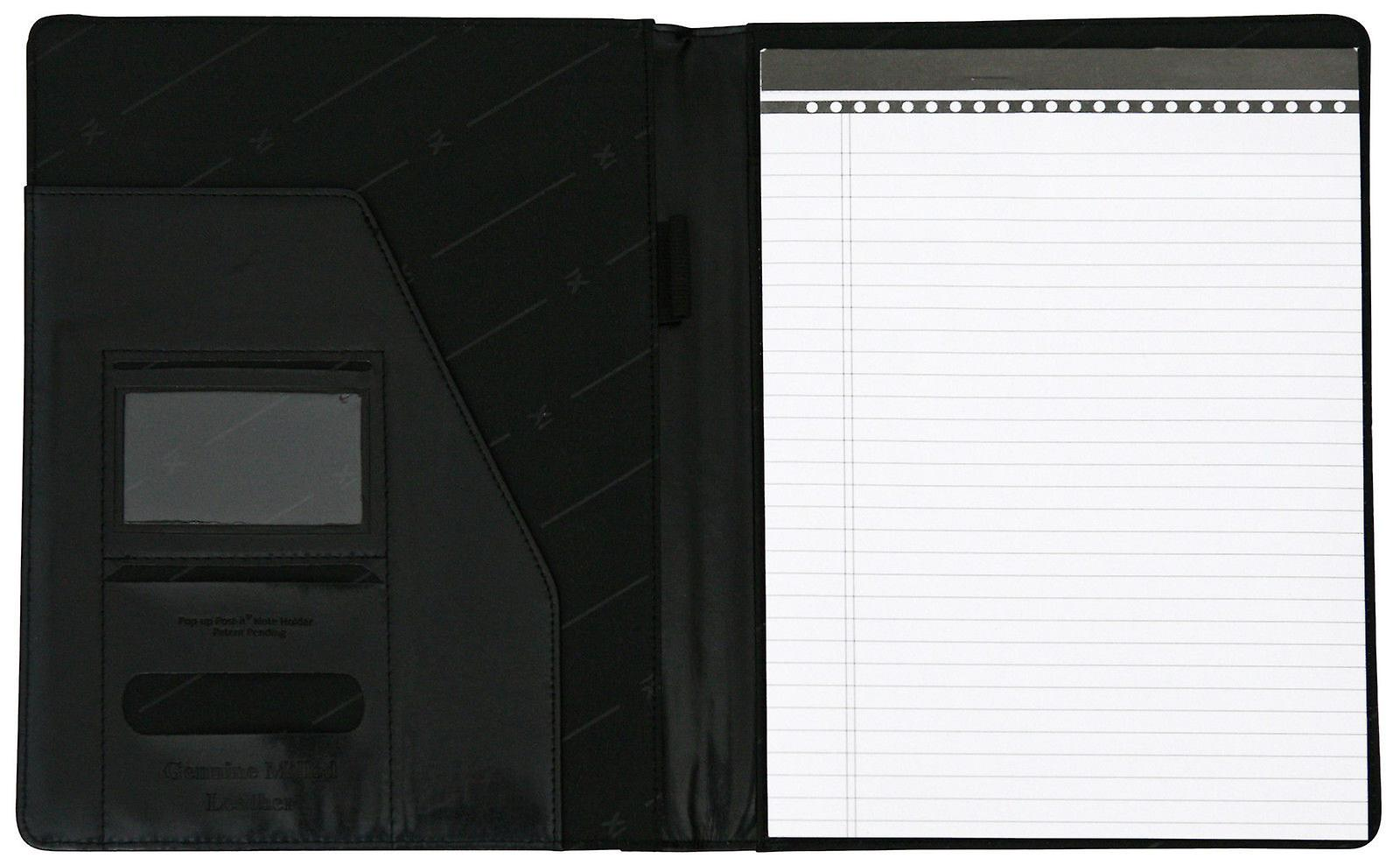 A4 Conference Folder Folio Case Milled Leather Business Organiser Pad Portfolio