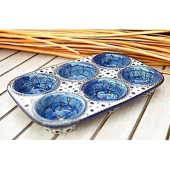 Baking pan, 29 x 20 x 4 cm, with 6 holes 4, BSN J-4482