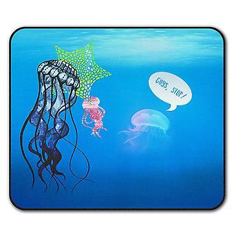 Jelly Fish Cute Animal  Non-Slip Mouse Mat Pad 24cm x 20cm | Wellcoda