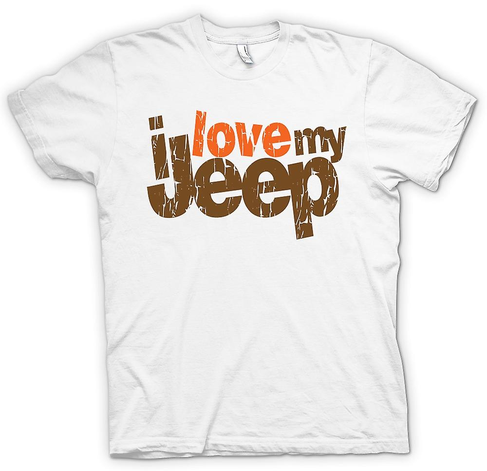 Womens T-shirt - I Love My Jeep - Car Enthusiast