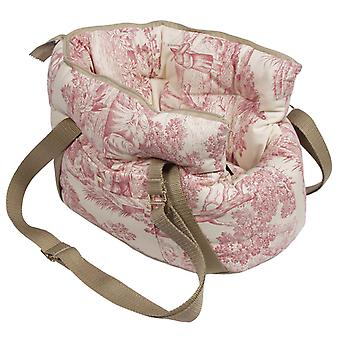 Baroque Dog / Pet Carrier Bag Red