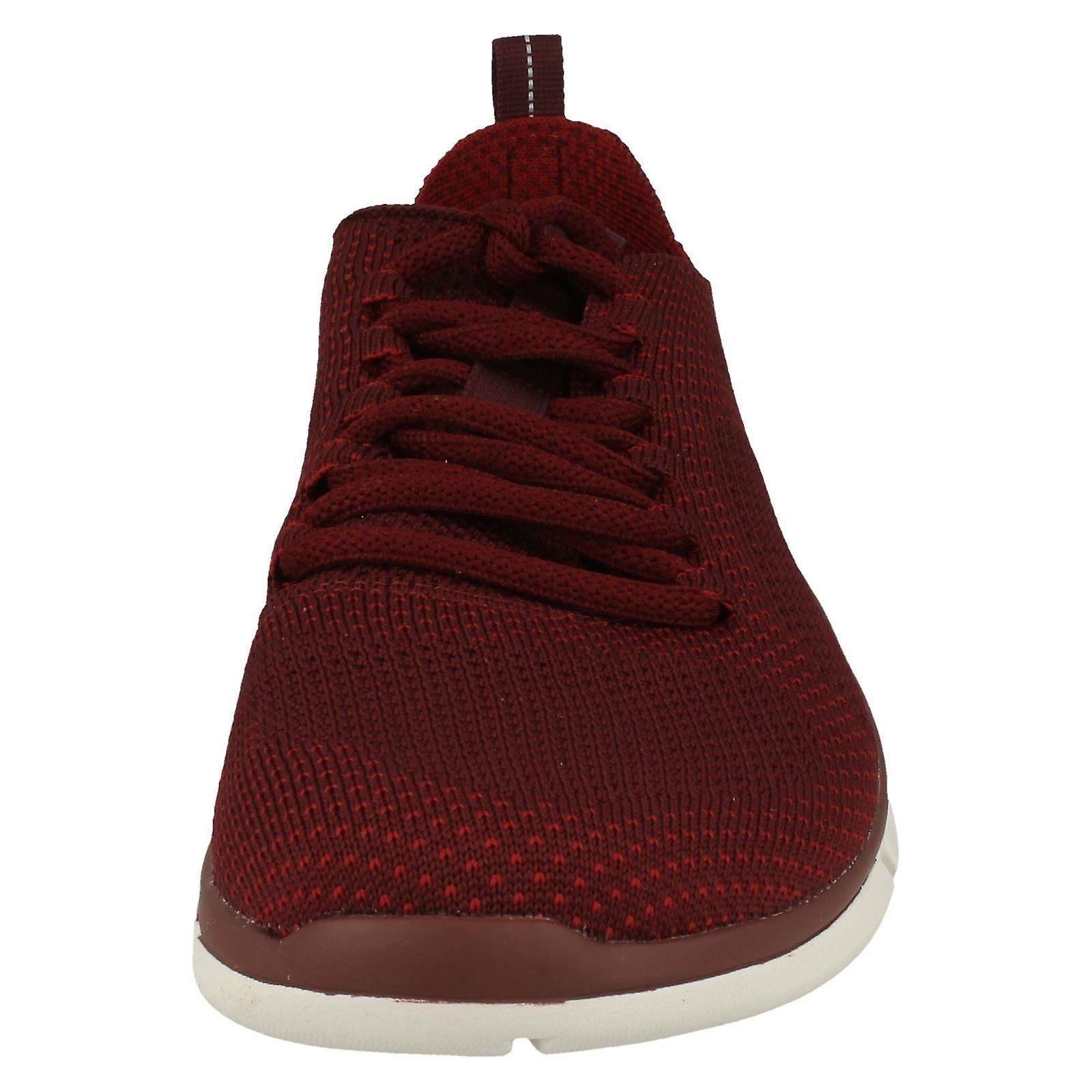 10M UK EU Size Mens US Triken Size 43 Red Lace Clarks Up Run Brick 9G Size Trainers Textile THFzUqTAwn