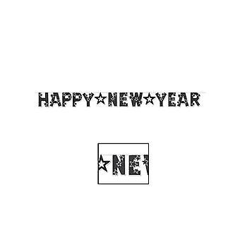 Сверкали новым годом баннер - черный & белый