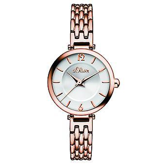 s.Oliver ladies wrist watch analog quartz IP Rosé SO-15100-MQR