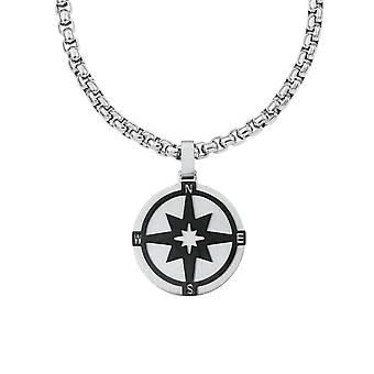 s.Oliver jewel mens chain stainless steel IP Black compass 2020910