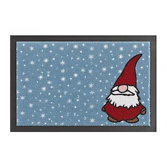 Fussmatte Schmutzfangmatte Weihnachtswichtel Zwerg Blau Rot 40x60 cm