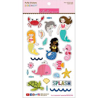 Secrets Of The Sea - Girl Puffy Stickers-Icons