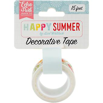 Happy Summer Decorative Tape-Ivy Floral