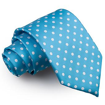Egg bleu à pois cravate classique de Robin