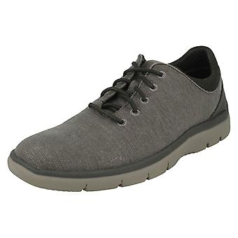 Mens Clarks Casual Lace Up Trainers Tunsil Ace