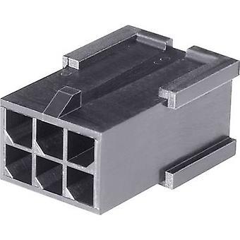 Caja de TE conectividad Pin - cable Micro-MATE-N-LOK número de espaciamiento de pernos 6 contacto: 3 mm 794616-6 1 PC