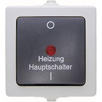 Kopp 暖房システム緊急スイッチ Nautic グレー 565356002
